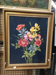 Sale 8754 - Lot 2024 - Marion Perich - Spring Flowers, 1990 oil on canvas on board, 60.5 x 50cm, signed and dated lower right -
