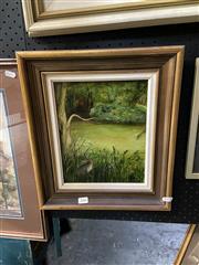 Sale 8891 - Lot 2006 - Sue Nagel - Bushland Scene 1972oil on board, 39 x 34cm (frame), signed