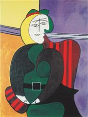 Sale 8896A - Lot 5064 - After Pablo Picasso (1881 - 1973) - The Red Armchair 73 x 51 cm