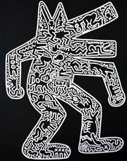 Sale 9072A - Lot 5057 - Keith Haring (1958 - 1990) - Dog, 1985 78 x 61 cm (frame: 109 x 89 cm)