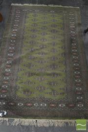 Sale 8341 - Lot 1007A - Persian Woollen Turkoman Carpet In Green
