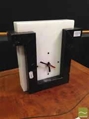 Sale 8412 - Lot 1005 - H and E Italy Marble Mantle Clock