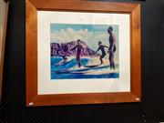 Sale 8671 - Lot 2041 - Glenn Boyd - Surfers, 1996, decorative print, 73 x 82cm (frame size), unsigned