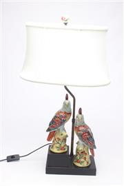 Sale 8685 - Lot 4 - Ceramic Cockatoo Lamp