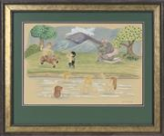 Sale 8713 - Lot 597 - Frank Follmer (1913 - 2000) - Bathing Nymphs 28 x 41cm