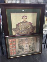 Sale 8707 - Lot 2013A - 2 works - The Forbidden City & Seated Portrait, framed 124 x 90.5cm & 92 x 61cm