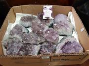 Sale 8724 - Lot 1093 - Box of Amethyst Crystal