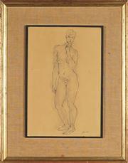 Sale 8824 - Lot 2003 - Maximillian Feurring (1896 - 1985) - Standing Nude 37 x 25cm