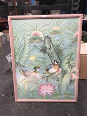 Sale 8833 - Lot 2097 - I. Wayan Swardana Bali Painting - Birds in Forest