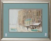 Sale 8836 - Lot 2044 - Kate Suggate - Waterfront, Italy 31.5 x 39cm -