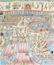 Sale 8867 - Lot 515 - Peter Kingston (1943 - ) - Coney Island, Sydney 43 x 35 cm