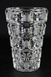 Sale 8977 - Lot 9 - Vintage Czechoslovakian 'Thousand Eyes'  Glass Vase, Probably Rudolf Jurnikl for Sklo Union, Rosice Glassworks H:19cm