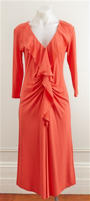 Sale 9081H - Lot 58 - A Mela Purdie cocktail dress in orange crepe, size 12