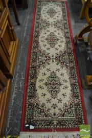Sale 8480 - Lot 1073A - Small Red & Cream Tone Runner
