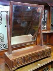 Sale 8539 - Lot 1062 - Edwardian Inlaid Toilet Mirror, in the Regency style, with boxwood stringing & three drawers