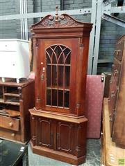Sale 8585 - Lot 1705 - Timber Corner Cabinet (214 x 95 x 56cm)
