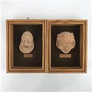 Sale 8699A - Lot 759 - Pair of Italian Terracotta Bust, 20 x 15cm framed