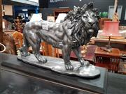 Sale 8697 - Lot 1062 - Silvered Lion (H: 29 L: 51 W: 18cm)