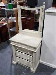Sale 8760 - Lot 1044 - Small Timber Mirrored Back Dresser
