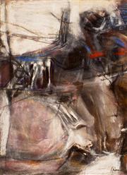 Sale 8787A - Lot 5070 - Thomas Gleghorn (1925 - ) - Untitled- March Painting #2, 1962 24.9 x 16.4cm