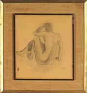 Sale 8824 - Lot 2004 - Maximillian Feurring (1896 - 1985) - Nude Sketch, no 16 28 x 25cm