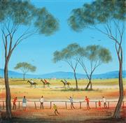 Sale 8870A - Lot 570 - Kym Hart (1965 - ) - Three Horse Race 30.5 x 30.5 cm