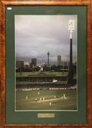 Sale 8863S - Lot 33 - Steve Waugh Photograph - 300 Club Second Test Australia vs South Africa, SCG 1997-98, in frame