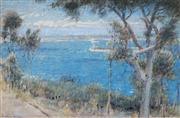 Sale 8881 - Lot 546 - Albert Goodwin (1845 - 1932) - Sydney Harbour 1928 24 x 37 cm