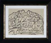 Sale 8924 - Lot 2059 - Desiderius Orban (1884 - 1986) Town Scene ink on paper, 24x33cm, unsigned -