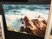 Sale 8903 - Lot 2097 - W. Cooper Print on Canvas - Coastal Scene, 56x80cm