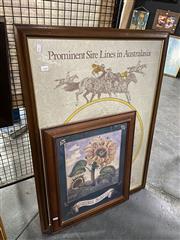 Sale 8924 - Lot 2081 - 2 Work: Sire Print & Sun Flowers Print