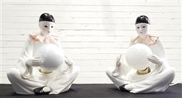 Sale 9112 - Lot 1057 - Pair of ceramic clown form table lamps (h:29cm)