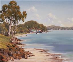 Sale 9125 - Lot 507 - Werner Filipich (1943 - ) Beach Scene & Mooring oil on board 44.5 x 54.5 cm (frame: 65 x 75 x 4 cm) signed lower left