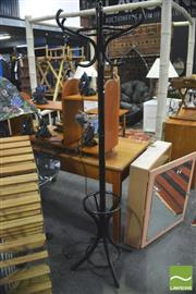 Sale 8392 - Lot 1068 - Black Painted Bentwood Coat Stand