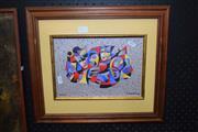 Sale 8419T - Lot 2013 - Anatole Krasnyansky (1930 - ), Masquerade, limited edition serigraph on wove paper, ed. 378/495, 18.5 x 26.5cm, signed LR