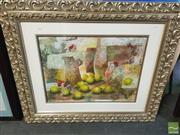 Sale 8446 - Lot 2024 - Alvaro Peppoloni (1951 - ) - Still Life with Lemons 48.5 x 65cm (frame size: 88 x 105cm)