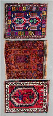 Sale 8499C - Lot 50 - 3 x Afghan Baluchi 55cm x 45cm