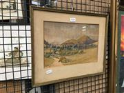 Sale 8752 - Lot 2036 - Burton Bradley - Factory in Landscape, Watercolour, SLL