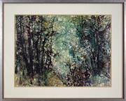 Sale 8878 - Lot 2043 - Essie Nangle (1915 - 2006) - Rainforest 44.5 x 60cm