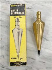 Sale 8951P - Lot 311 - Boxed General 16oz Brass Plumb Bob (14.5cm)