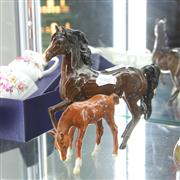 Sale 8336 - Lot 94 - Beswick Horse Figure with a Smaller Example