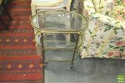 Sale 8352 - Lot 1083 - French Style Glass Topped Trolley