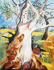 Sale 8415 - Lot 532 - Anne Hall (1945 - ) - Resting under the Gum (near Tooradin), 1968 103.5 x 80cm