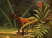 Sale 8656 - Lot 512 - Blake Twigden (1945 - ) - The Cat in My Garden, 1987 30 x 40cm
