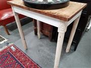 Sale 8676 - Lot 1077 - Rustic Timber Top Table