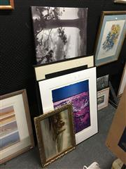 Sale 8702 - Lot 2087 - Collection of Four Artworks incl Prints and Canvas -