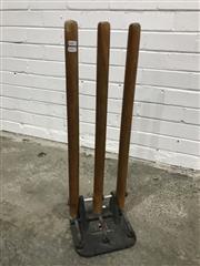 Sale 9059 - Lot 1045 - Kookaburra Cricket Wickets (H:71cm)