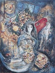Sale 9081A - Lot 5075 - Marc Chagall (1887 - 1985) - Bella 75 x 58 cm (frame: 129x 102 x 4 cm)