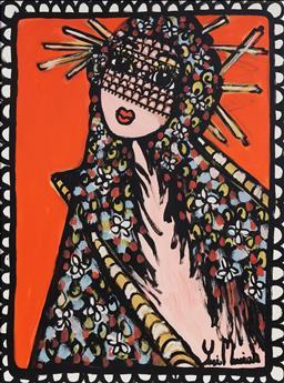 Sale 9125A - Lot 5069 - Yosi Messiah (1964 - ) - Orange Lee, 2019 100 x 75 cm (frame: 105 x 80 x 2 cm)
