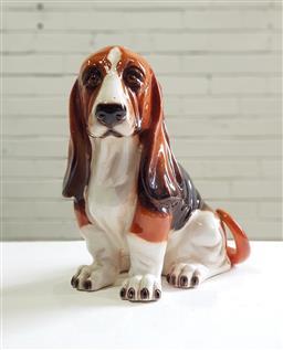 Sale 9137 - Lot 1031 - Ceramic hound (h:33cm)